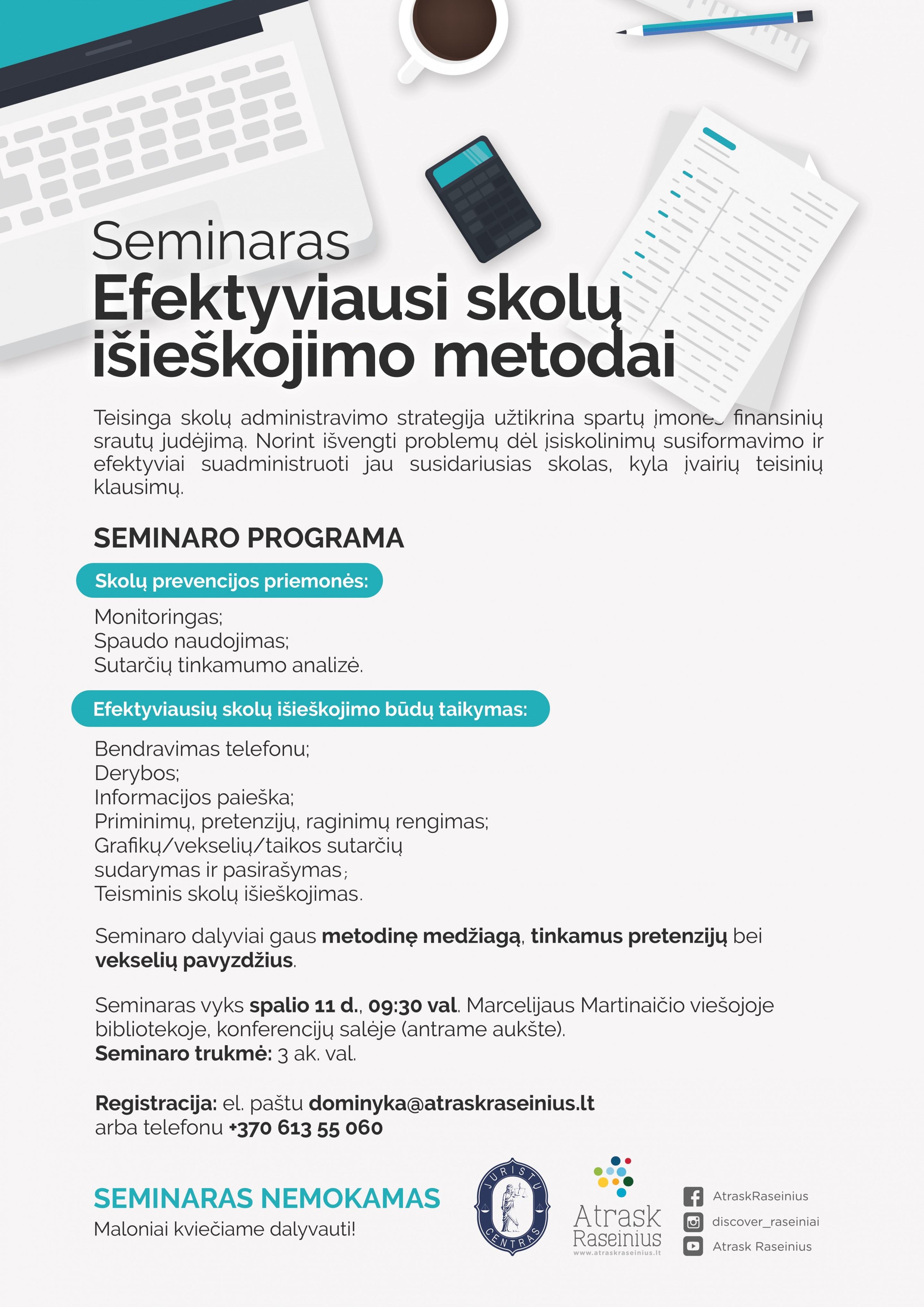 Raseiniai Seminaras EfektyviausiSkoluIsieskojimoMetodai Plakatas A3 2 uai 2880x4073 1